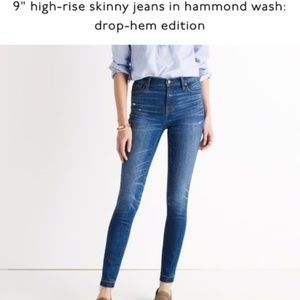"Madewell 9"" High-Rise Skinny Jean with Drop-Hem"